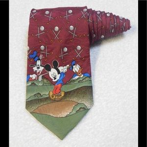 Disney Mickey Unlimited Goofy Donald Golf Tie